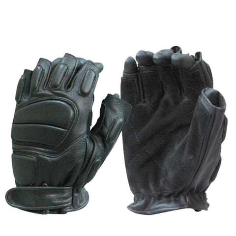 Raptor Half Finger Leather Gloves - Bulldog Tactical Gear