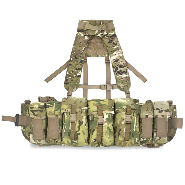 Airborne Webbing Set with MOLLE Yoke 3 Pouch MTC | Bulldog Tactical Gear
