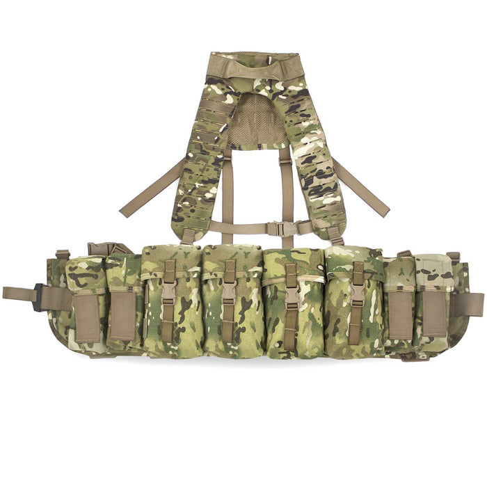 Airborne Webbing Set with MOLLE Yoke 4 Pouch MTC | Bulldog Tactical Gear