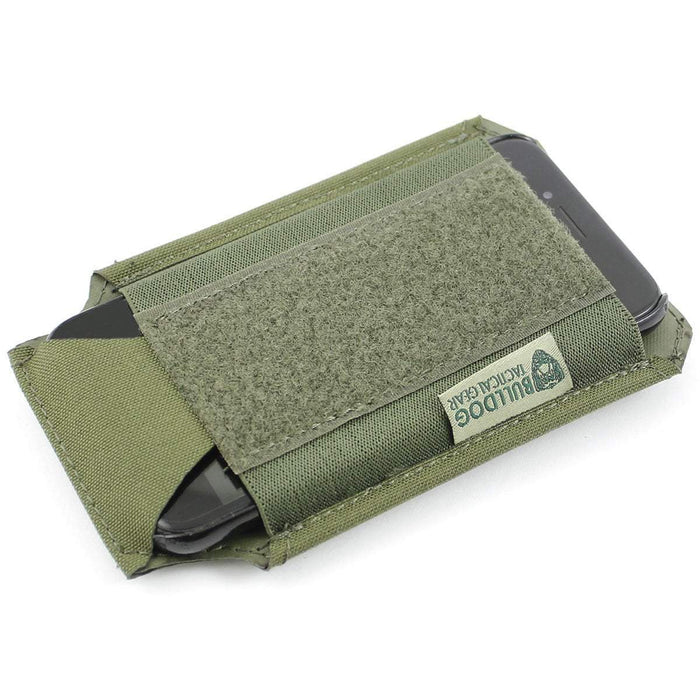 Bulldog Large 1x1 Elastic Adapt Pouch with iPhone 7 Green | Bulldog Tactical Gear