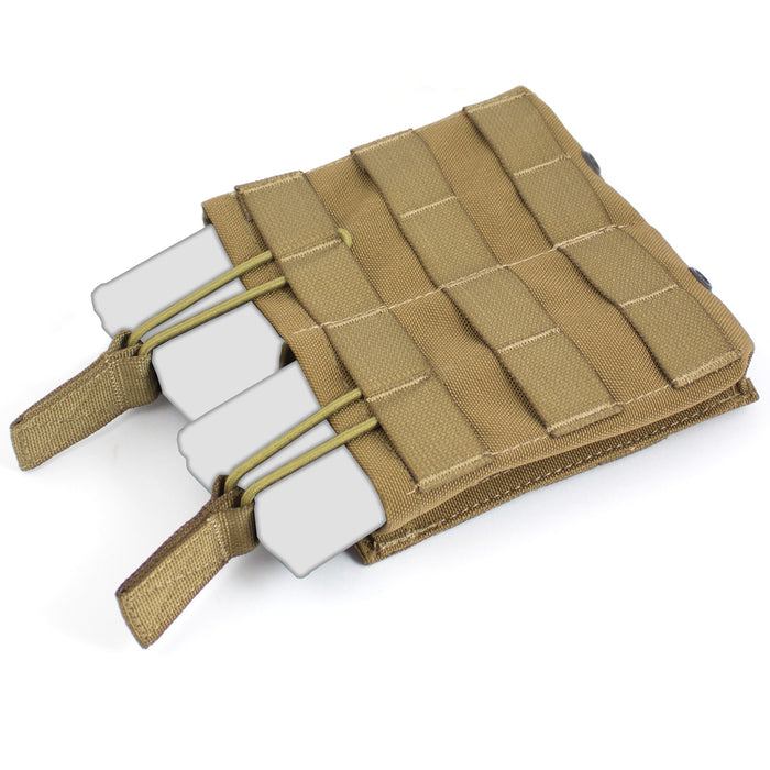 MOLLE Double Open Top M4 Mag Pouch - Bulldog Tactical Gear