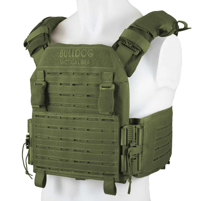 QR Kinetic Armour Carrier Olive Green | Bulldog Tactical Gear