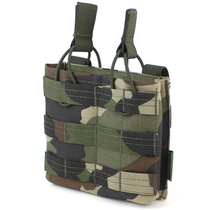 MOLLE Double Open Top M4 Mag Pouch CCE Woodland - Bulldog Tactical Gear
