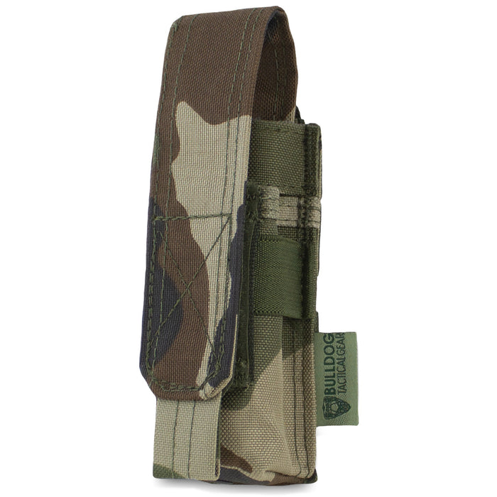 MOLLE Single Pistol Mag Pouch CCE Woodland - Bulldog Tactical Gear