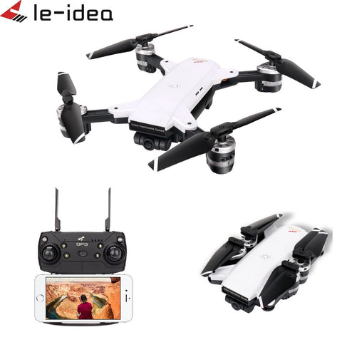 Le-idea IDEA10 Drone GPS WiFi FPV 1080P Wide-Angle Camera RC Helicopter Quadcopter Foldable Altitude Hold Drones with Camera HD