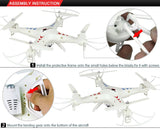 Drone Enfant Quadcopter 2.4G 4CH 4D Droll Big Remote Control Toy 2MP Drone Camera FPV RC RC Drone with Hovercraft