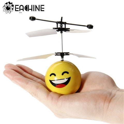 Mini Drone Hand Induction Flying Ball Facial Expression Toy Funny Kid Toys Present Gift Flying Toys