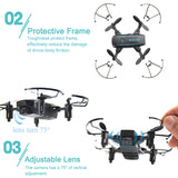 Linxtech IN1601 Wifi FPV Mini Drone with Camera Helicopter Altitude Hold RC Drone Quadcopter Foldable Drone Toys Gift For Kids