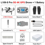 L109 L109-Pro GPS Profissional Drone with HD 4K ESC Camera 5G WiFi FPV Optical Flow Brushless Motor RC Quadcopter Helicopter Toy