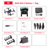 MJX Bugs 4W B4W 5G GPS Brushless Foldable Drone with 4K FHD WIFI FPV Camera Anti-shake 1.6KM 25Minute Optical Flow RC Quadcopter