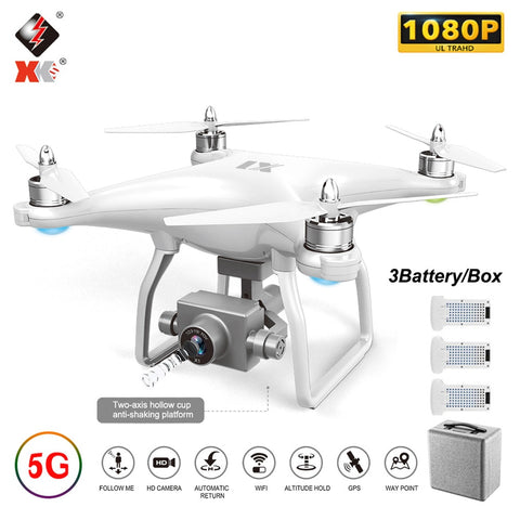 WLtoys X1 X1S Pro GPS Quadcopter with Camera 4K / 1080P FPV RC Drone 5G Wifi Brushless 2-Axis Self-stabilizing Gimbal Dron