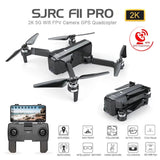 SJRC F11 PRO GPS Drone With Wifi FPV 1080P/2K HD Camera F11 Brushless Quadcopter 25 minutes Flight Time Foldable Drone