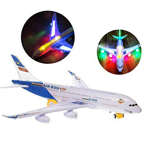 Model Electric Kids Action Toy Airplane Plane With Lights And Sounds Toy Planes For Boys And Girls Safety Plastic Aircraft #40