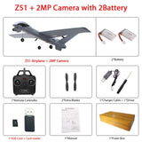 RC Airplane Plane Z51 with 2MP HD Camera or No Camera 20 Minutes Fligt Time Gliders With LED Hand Throwing Wingspan Foam Plane