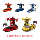 Boys Amazing Gifts Deformation Car Toys Automatic One-key Transform Robot Plastic Model Car Funny Toys For Kid Toy New Arrival