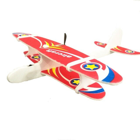 Electric Hand Throwing Foam Aircraft Electric Swing Usb Charging Aviation Model Glider Toy Outdoor Toy