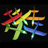 DIY Hand Throw Flying Glider luminous Planes Toys For Children Foam Aeroplane Model Fillers Glow In The Dark Plane Toys Game