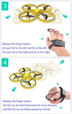 Wholesale link ZF04 RC Mini Quadcopter Induction Drone Smart Watch Remote Sensing Gesture Aircraft UFO Hand Control Drone