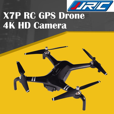 JJRC X7P SMART RC GPS Drone 5G WIFI 1KM FPV 4K Positioning Camera Two-axis Gimbal RC Quadcopter Drone Flight 25mins Black/White