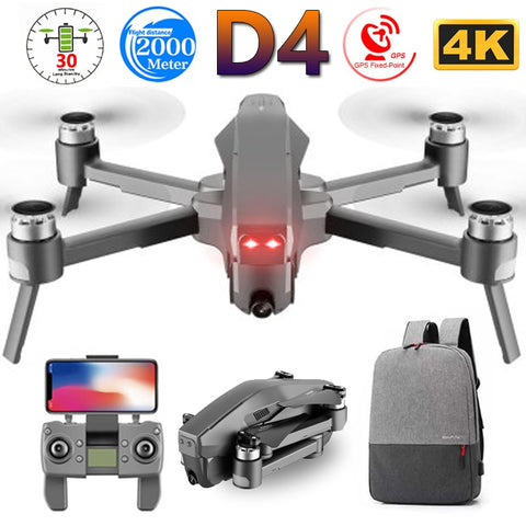 D4 Profissional Quadrocopter 5G GPS FPV 600M WiFi Drone With 4K HD Camera Brushless Motor Flight 30 Min RC Helicopter Toys SG907