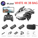 Mini Drone with 4K Camera HD Foldable Drones One-Key Return FPV Quadcopter Follow Me RC Helicopter Quadrocopter Kid's Toys