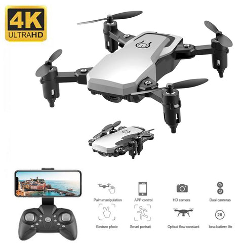 New Mini Drone with 4K Camera HD Foldable Drones One-Key Return FPV Quadcopter Follow Me RC Helicopter Quadrocopter Kid's Toys