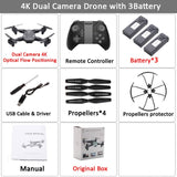 Visuo XS816 RC Drone with 50 Times Zoom WiFi FPV 4K Dual Camera Optical Flow Quadcopter Foldable Selfie Dron