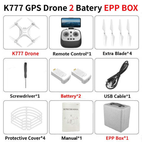 KALIONE K777 GPS Drone 4K Gimbal Camera 1000m 5G WIFI FPV Brushless Helicopter SD Card Professional RC Quadcopter 30Mins