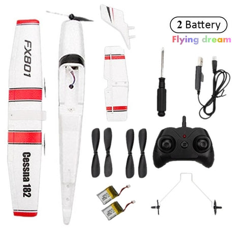 Beginner Electric RC Airplane RTF Epp Foam Remote Control Glider Plane Cassna 182 Aircraf More Battery Increase Fly Time