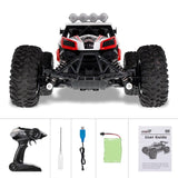 RC Car 1/16 Scale 2.4Ghz Remote Control Car 25km/h High Speed Off Road RC Car with Rechargeable Battery Racing Car for Kids