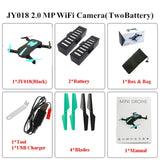 Foldable Mini Selfie Pocket Rc Camera Drone JY018 with Wifi FPV Camera Altitude Hold Headless Mode RC Helicopter