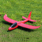 48CM Hand Throw Foam Plane Toys Outdoor Launch Glider airplane Kids Gift Toy Free Fly Plane Toys Puzzle Model Jouet