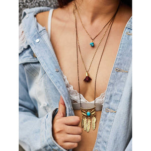 Mixed Charm Layered Chain Necklace