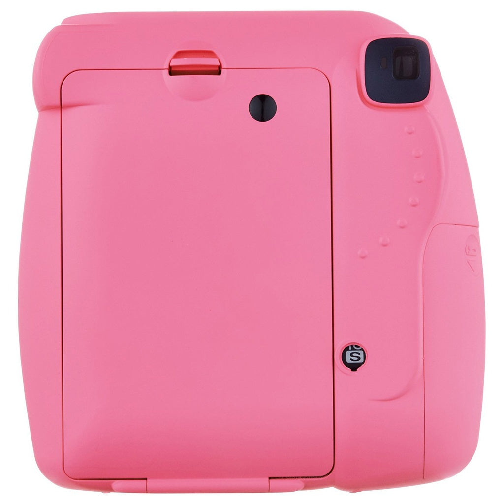 Fujifilm Instax Mini 9 Instant Camera Bundle w/ Case and Film - Flamingo Pink