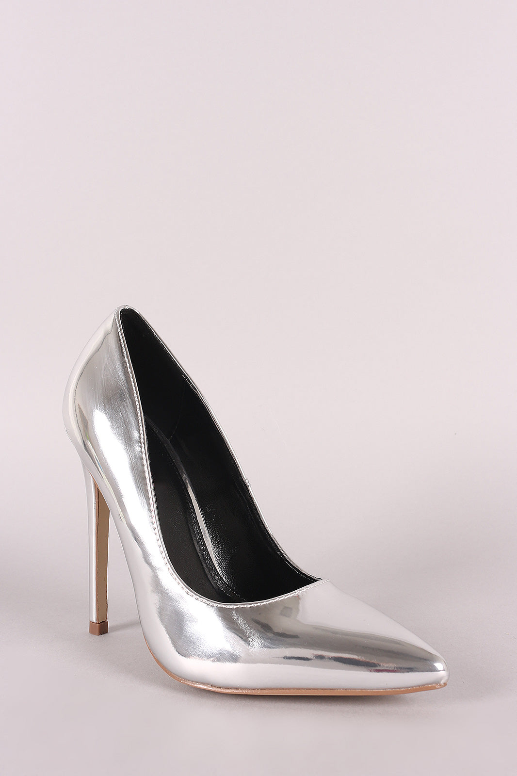 Shiny Patent Pointy Toe Stiletto Pump