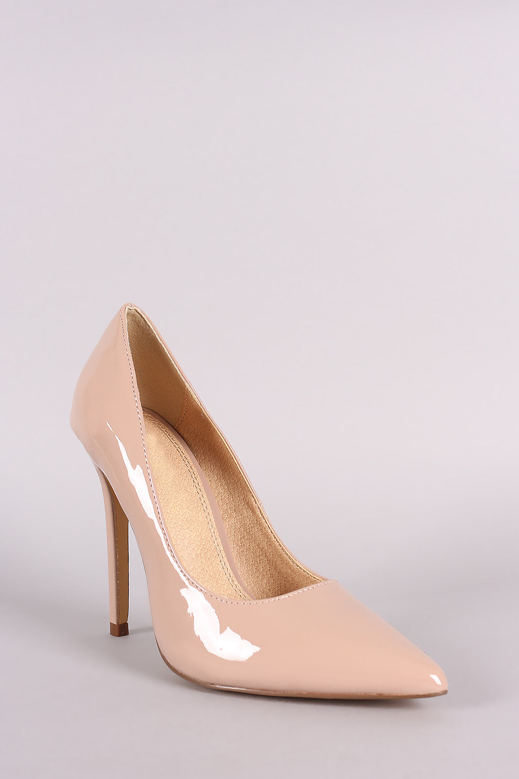 Classic Patent Pointy Toe Stiletto Pump
