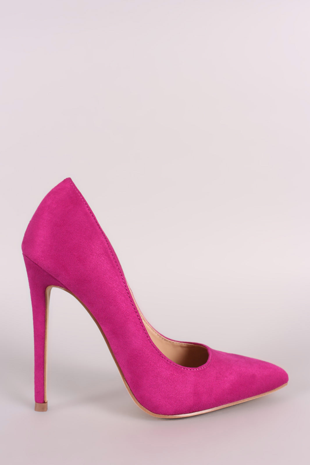 Vegan Suede Pointy Toe Stiletto Pump