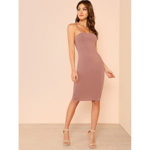 Solid Bodycon Cami Dress