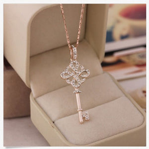 Hollow Key Necklace