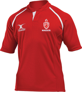 North Midlands Referees GILBERT Rugby Shirt - Red
