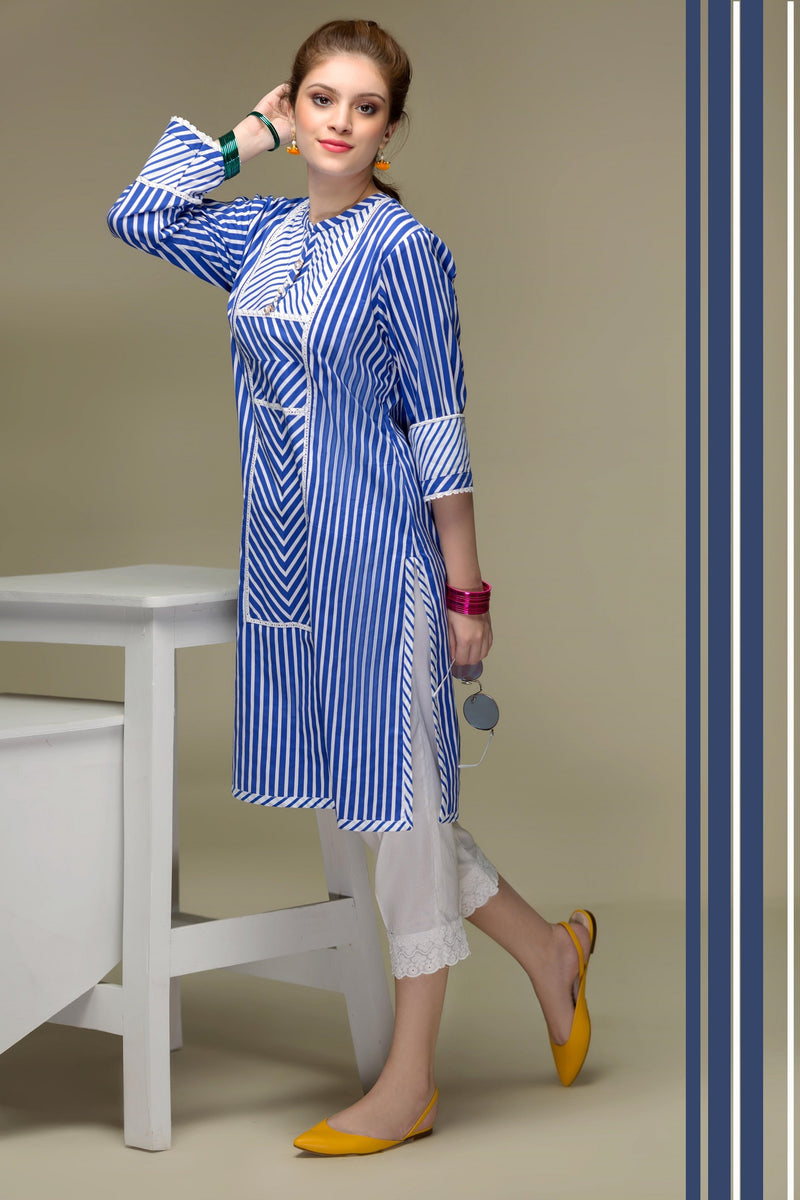 Stripe Hype – Royal Blue