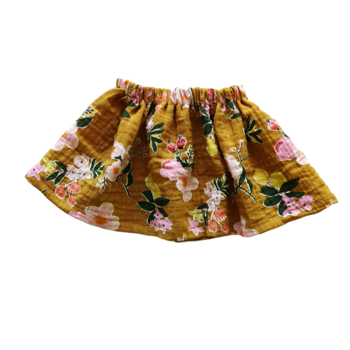 Simple Skirt | Curry Floral