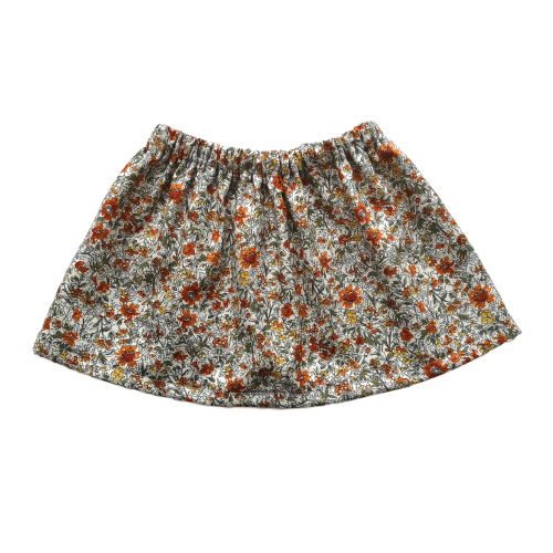 Simple Skirt | Warm Floral
