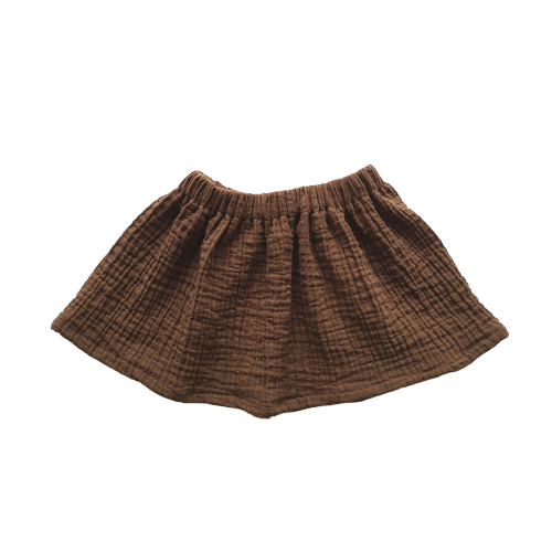 Simple Skirt | Chocolate Musselin