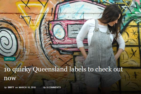 Britt's List - 10 Quirky Queensland labels to check out now