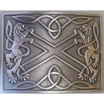 Antique Silver Highland Saltire Buckle