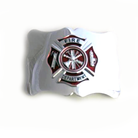 Fire Department Badge Belt Buckle