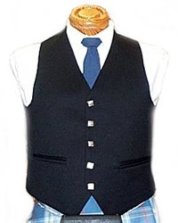 Men's 5 Button Vest - Black 1