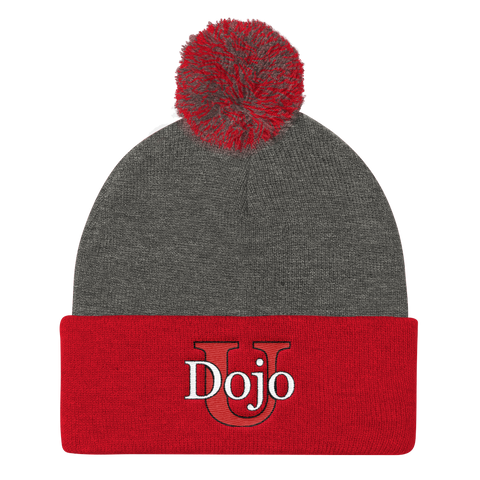Dojo University Pom Pom Knit Cap