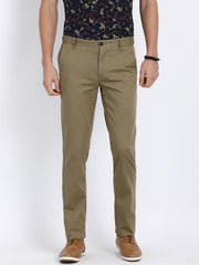 t-base men's beige slim tapered chinos